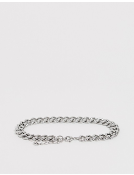 Asos Design Plus Midweight Chain Bracelet In Silver Tone by Asos Design