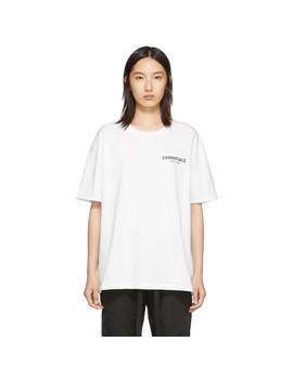 White Shaniqwa Jarvis Photo Series T Shirt by Essentials