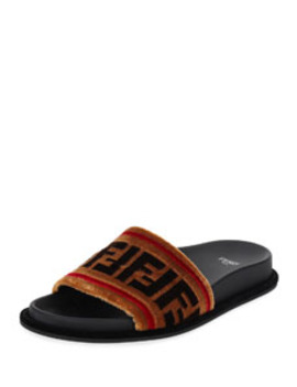 Velvet Ff Slide by Fendi