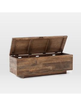 Emmerson® Reclaimed Wood Storage Bench   Natural by West Elm