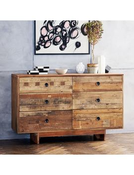 Emmerson® Reclaimed Wood 6 Drawer Dresser   Natural by West Elm
