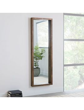 Emmerson® Modern Reclaimed Wood Floor Mirror by West Elm