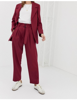 Selected Margot Pleated Tailored Co Ord Trouser In Wool Blend by Selected