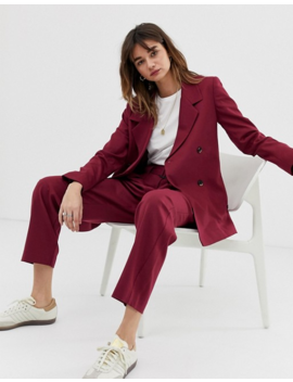 Selected Margot Double Breasted Longline Co Ord Blazer In Wool Blend by Selected