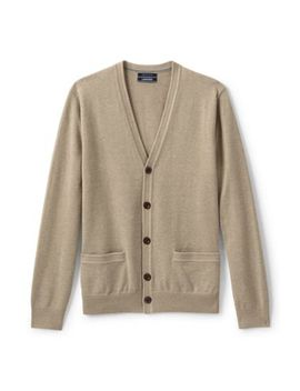 Men's Classic Fit Supima Cotton Cardigan Sweater by Lands' End