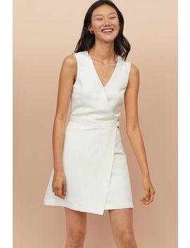 Šaty S Křížením Z Lněné Směsi by H&M