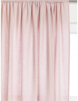 John Lewis & Partners Washed Linen Slot Top Voile Panel, Blush Pink by John Lewis & Partners