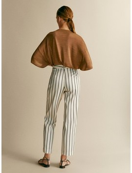 Striped Slim Fit Trousers by Massimo Dutti