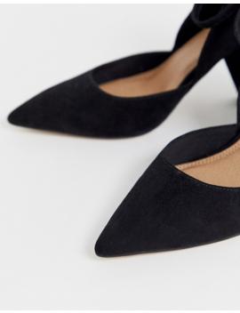 Asos Design Speak Out Pointed Mid Heels In Black by Asos Design