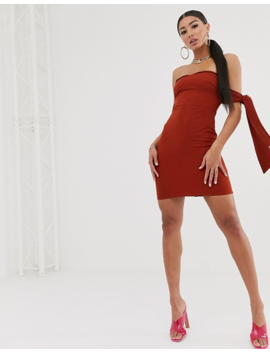 Koco &Amp; K Tie Sleeve Bardot Mini Dress In Woven by Koco & K
