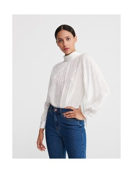 Jacquard Blouse With Stand Up Collar by Reserved