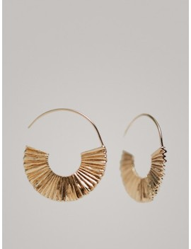 Half Moon Hoop Earrings by Massimo Dutti