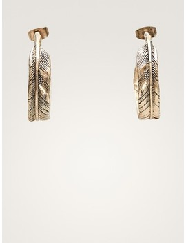 Feather Hoop Earrings by Massimo Dutti