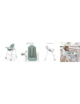 Oribel Cocoon High Chair Pistachio Macaron 6 Months 3 Years by Oribel