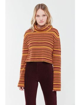 Uo Mackenna Striped Turtleneck Sweater by Urban Outfitters