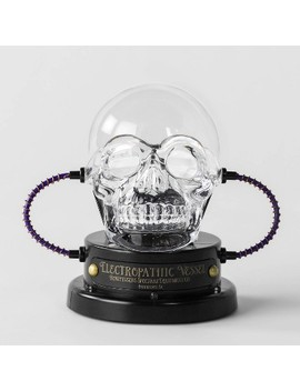 Animated Led Skull Plasma Ball Decorative Halloween Prop   Hyde &Amp; Eek! Boutique   Hyde And Eek! Boutique by Hyde & Eek! Boutique