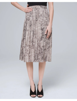 Snake Soft Pleated Skirt by Whbm