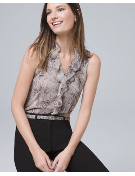 Snake Ruffle Shell by Whbm