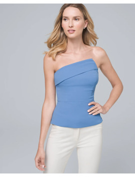 Asymmetrical Bustier Top by Whbm