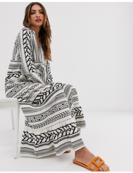 Vero Moda Maxi Smock Dress In Bold Print by Vero Moda