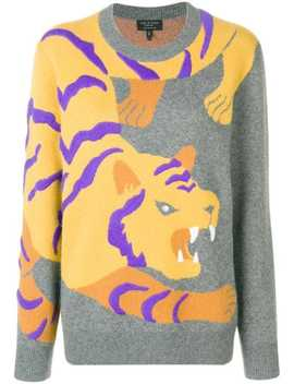 Cashmere Intarsia Tiger Sweater by Rag & Bone