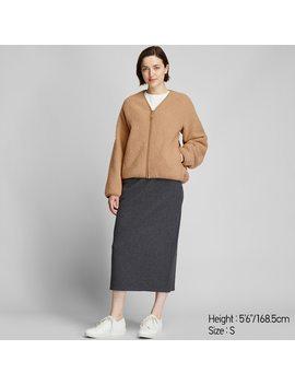 Women Pile Lined Fleece V Neck Cardigan by Uniqlo