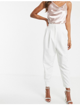 Asos Design Extreme Tapered 80s Pants In White by Asos Design