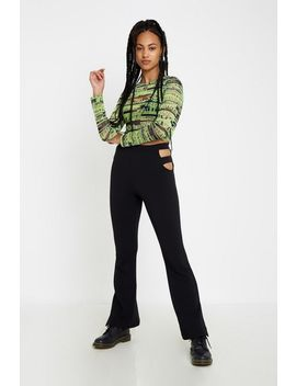 Uo Printed Mesh Double Layer Top by Urban Outfitters