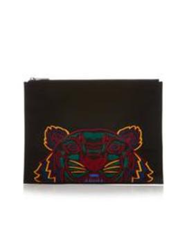 A4 Tiger Canvas Pouch Bag   Black by Kenzo
