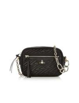 Coventry Quilted Cross Body Camera Bag   Black by Vivienne Westwood