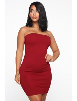 She Has It Made Bodycon Dress   Burgundy by Fashion Nova