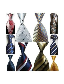 Wehug Lot 10 Pcs Men's Ties 100% Silk Tie Woven Jacquard Neckties Classic Ties by Ebay Seller