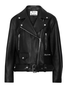 Merlyn Oversized Leather Biker Jacket by Acne Studios