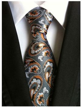 Wehug Men's Classic Paisley Tie Silk Woven Necktie Jacquard Neck Ties For Men by Wehug