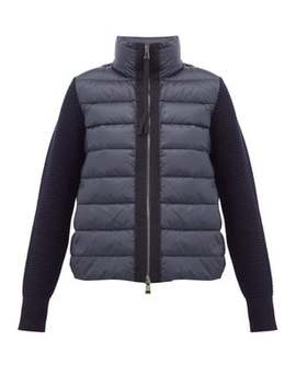 Knitted Sleeve Quilted Down Jacket by Moncler