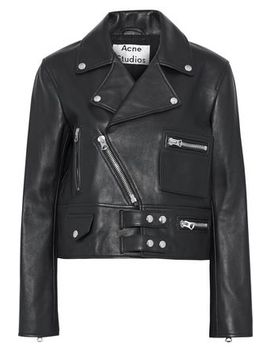 Suokki Leather Biker Jacket by Acne Studios