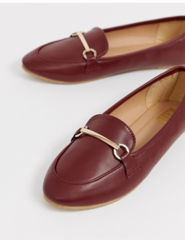 Raid Viera Oxblood Snaffle Detail Flat Shoes by Raid