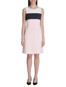 Colorblock Sheath Dress by Tommy Hilfiger