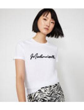 Mademoiselle Slogan T Shirt by Warehouse