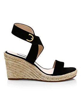 Lexia Suede Espadrille Wedges by Stuart Weitzman
