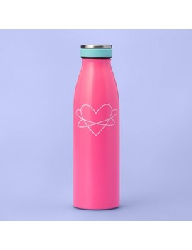 16.9oz Metal Water Bottle With Heart   More Than Magic   Pink by More Than Magic