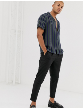 Asos Design Relaxed Stripe Shirt In Green by Asos Design