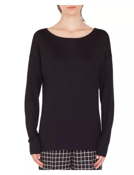 Oversize Viscose/Silk Boat Neck Top by Akris Punto
