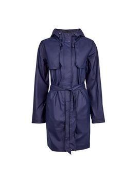 Navy Check Print Raincoat Mac by Dorothy Perkins