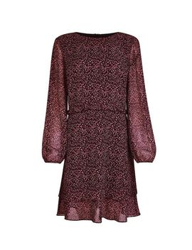Purple Ditsy Print Ruffle Fit And Flare Dress by Dorothy Perkins
