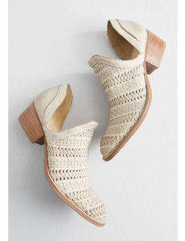 Just Kicking Around Woven Bootie by Modcloth