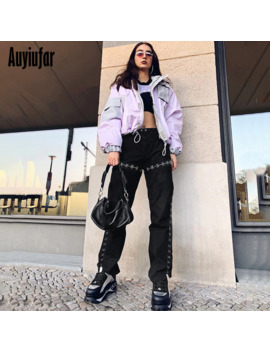 Auyiufar Streetwear Flare Pants For Women Black High Waist Harajuku Wide Pants Flared Wide Leg Gothic 2019 Women's Trousers by Ali Express.Com