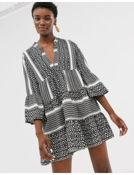 Only Printed Smock Mini Dress by Only