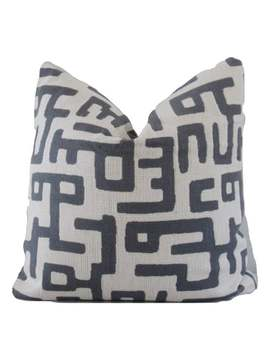 "Charcoal Kuba Decorative Pillow Cover Throw Pillow, Accent Pillow, Toss Pillow <A Href=""Tel:16 18 20 22 24 26"">16 18 20 22 24 26</A> Euro by Etsy"