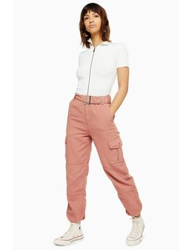 Belted Eyelet Utility Trousers by Topshop